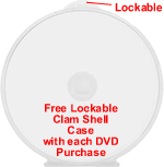 Free Lockable Clam Shell DVD Case with Purchase